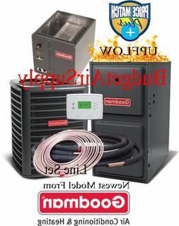 3 Ton Goodman 14 seer 96% 100K BTU Gas Furnace UPFLOW GMSS96
