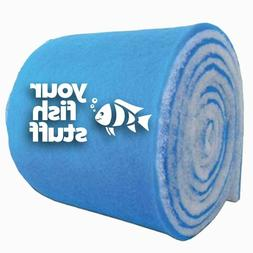 "10-ft ROLL Blue Bonded Aquarium Media Pad 12"" x 10' Fiber Fl"