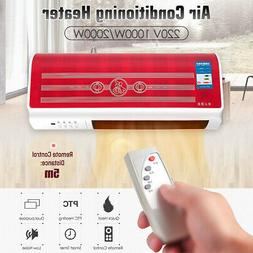 1000-2000W Wall Mount Heater Air Conditioner Remote Timer Fa
