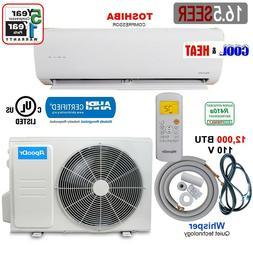 12,000 BTU Ductless Air Conditioner Heat Pump Mini Split 110