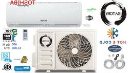 12000 BTU Ductless Air Conditioner, Heat Pump Mini Split 110