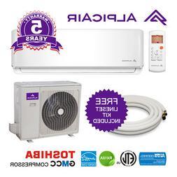AlpicAir 24,000 BTU Ductless Mini-Split Air Conditioner Heat