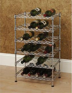 12 bottle ultrazinc floor wine rack convenient