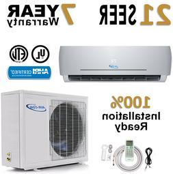 12000 BTU 21 SEER Ductless Mini Split Air Conditioner Heat P