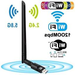 1200Mbps Wireless USB Wifi Adapter Dongle Dual Band 2.4G/5GH
