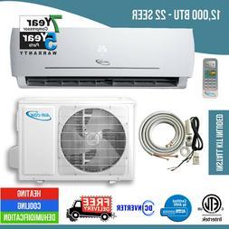 12,000 BTU 22 SEER Ductless Mini Split Air Conditioner Heat