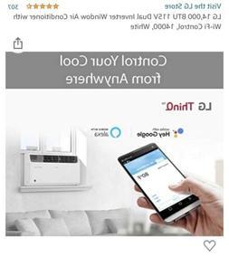 LG 14,000 BTU Dual Inverter Window Air Conditioner with Remo