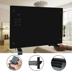 1500W Glass Panel Heater Convector w/Remote Control Wall Mou