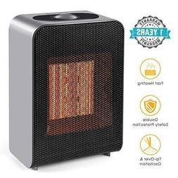 1500W PTC Ceramic Portable Electric Space Heater Fan Heating