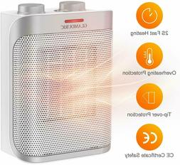 1500W Thermostat Ceramic Space Heater ETL Listed Hot & Cool