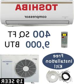 19 SEER: 9000 BTU Ductless Air Conditioner Heat Pump Mini Sp