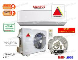 18,000 BTU Ductless Air Conditioner, Heat Pump Mini Split 22