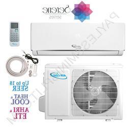 24,000 BTU Ductless Mini Split Air Conditioner Heat Pump 18