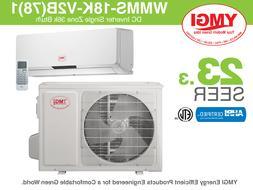 18000 BTU Mini Split Air Conditioner SEER 23.3 YMGI with MIT