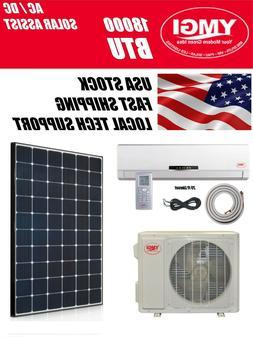 YMGI 18000 BTU Solar Assist Ductless Mini Split Air Conditio