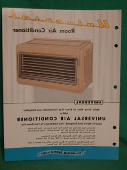 1953 UNIVERSAL CO APPLIANCES ROOM AIR CONDITIONER  VINTAGE S