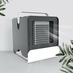 1pcs Portable Mini Air Conditioner Low Noise Night Light Usb