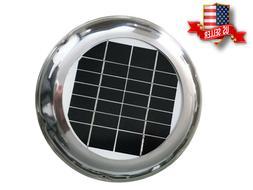 2.5W SOLAR VENT FAN BRUSHLESS MOTOR VENTILATION  FOR BOAT GR