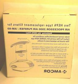 Amcor 2 HEPA Type Replacement Filters for Air Processor 2000