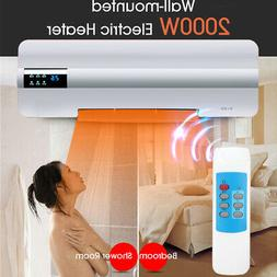 2 in 1 Wall Mount Air Conditioner Fan Electric Heater Cool &