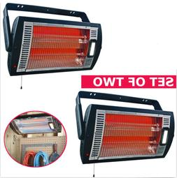 2 PACK of ELECTRIC CEILING HEATER Garage Shop Wall Mount Dua