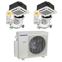 2 Zone Ductless Multi-Split Air Conditioner Heat Pump 9k 9k