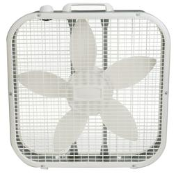 """20"""" Box 3-Speed Fan Air Cooler White Steel Body Frame Home C"""