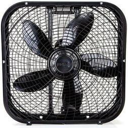 "Holmes 20"" Box Fan 3-Speed Settings Portable Cooling Floor L"