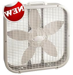 Lasko 20 in. White Floor Box Fan 3 Speed Electric Indoor Por