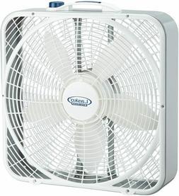 PELONIS 20 in White Floor Box Fan 3 Speed Electric Indoor Po