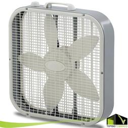 20 Inch BOX FAN 3-Speed Portable Electric Floor Stand Quiet