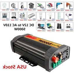 2000/4000/6000/12000W Car Power Inverter DC 12V to 110V Sine