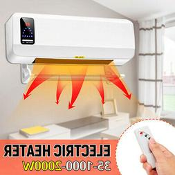 2000W Wall Mounted Heater 220V Timing Space Heating Air Cond