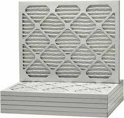 20x20x1 Merv 13 Pleated AC Furnace Filters. Case of 6, Helps