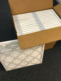 20x20x1 Merv 8 Pleated AC Furnace Filters. Case of 12