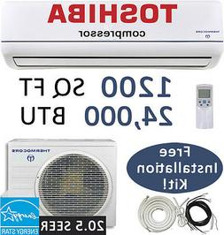21 SEER 24,000 BTU Ductless AC Mini Split Air Conditioner He