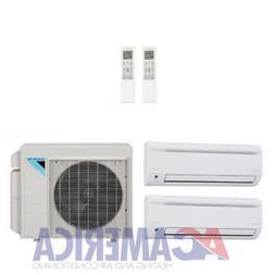 Daikin 24,000 Btu 18.9 SEER 2 Zone Heat Pump Mini Split 2XMS