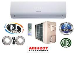 24,000 BTU 2 TON 14 SEER Ductless Mini Split Air Conditioner