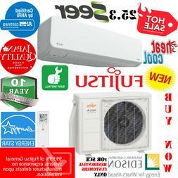25.3 SEER 15000 BTU FUJITSU Air Conditioner & Heat Ductless