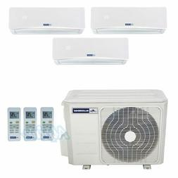 Blueridge 27,000 BTU  22 SEER Three Zone Ductless Heat Pump