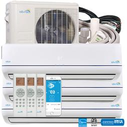 27000 BTU Tri Zone Ductless Mini Split Air Conditioner and H