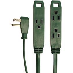 Axis 45511 8 3-Outlet Extension Cord Green Home & Garden Imp