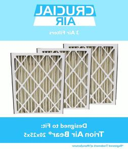 3 Replacements Trion 255649-102 Pleated Furnace Air Filters