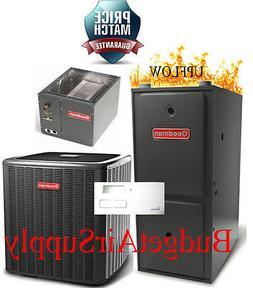 3 Ton Goodman 13 seer 95/96% 100K BTU Gas Furnace UPFLOW Sys