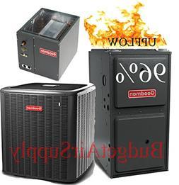 5 ton 14 Seer Goodman 96% Efficient 100K Btu Gas Furnace Sys
