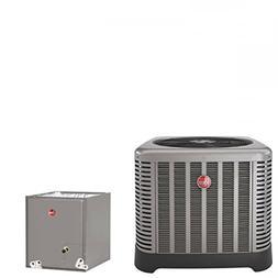 3 Ton Rheem 16 SEER R410A Air Conditioner Condenser with 21'