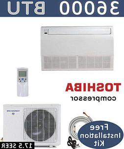 3 TON Ductless Mini Split Air Conditioner, Heat Pump CEILING