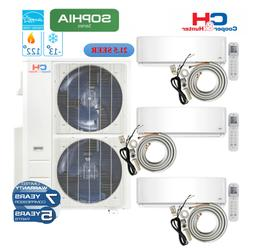 3 Zone Mini Split Wall Mount Ductless Air Conditioner &Heate