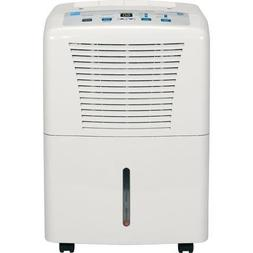 GE 30-Pint Dehumidifier for Basements w/Drain, White, ADEW30