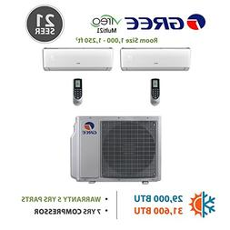 Gree 30,000 BTU Multi21 Dual-Zone Wall Mounted Ductless Mini